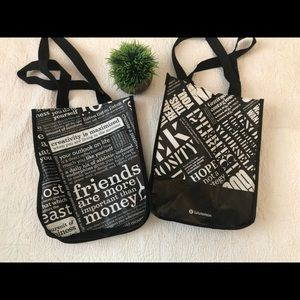 lululemon athletica Bags - Lululemon Set of 2 Shopping bags